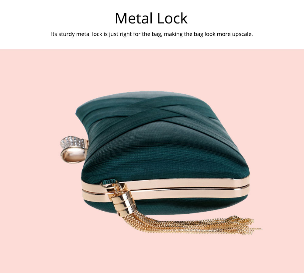 Imitation Silk Evening Bag, European and American Ladies Banquet Clutch, Ladies Dress Evening Handbag 4