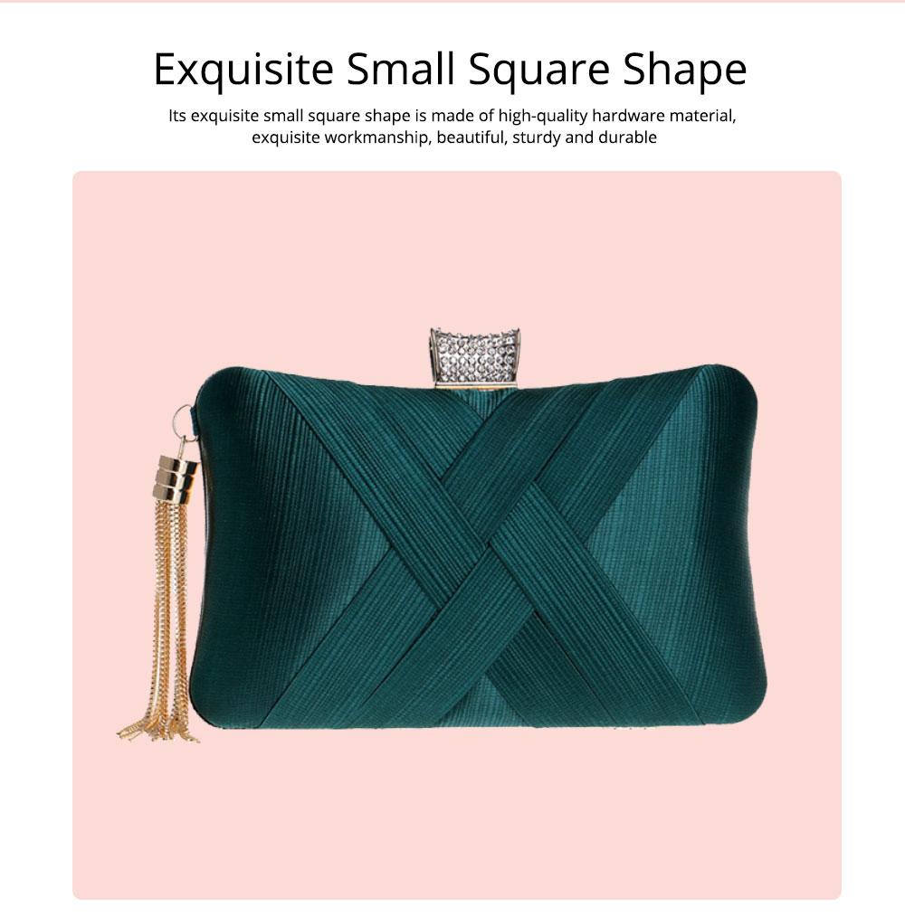 Imitation Silk Evening Bag, European and American Ladies Banquet Clutch, Ladies Dress Evening Handbag 3