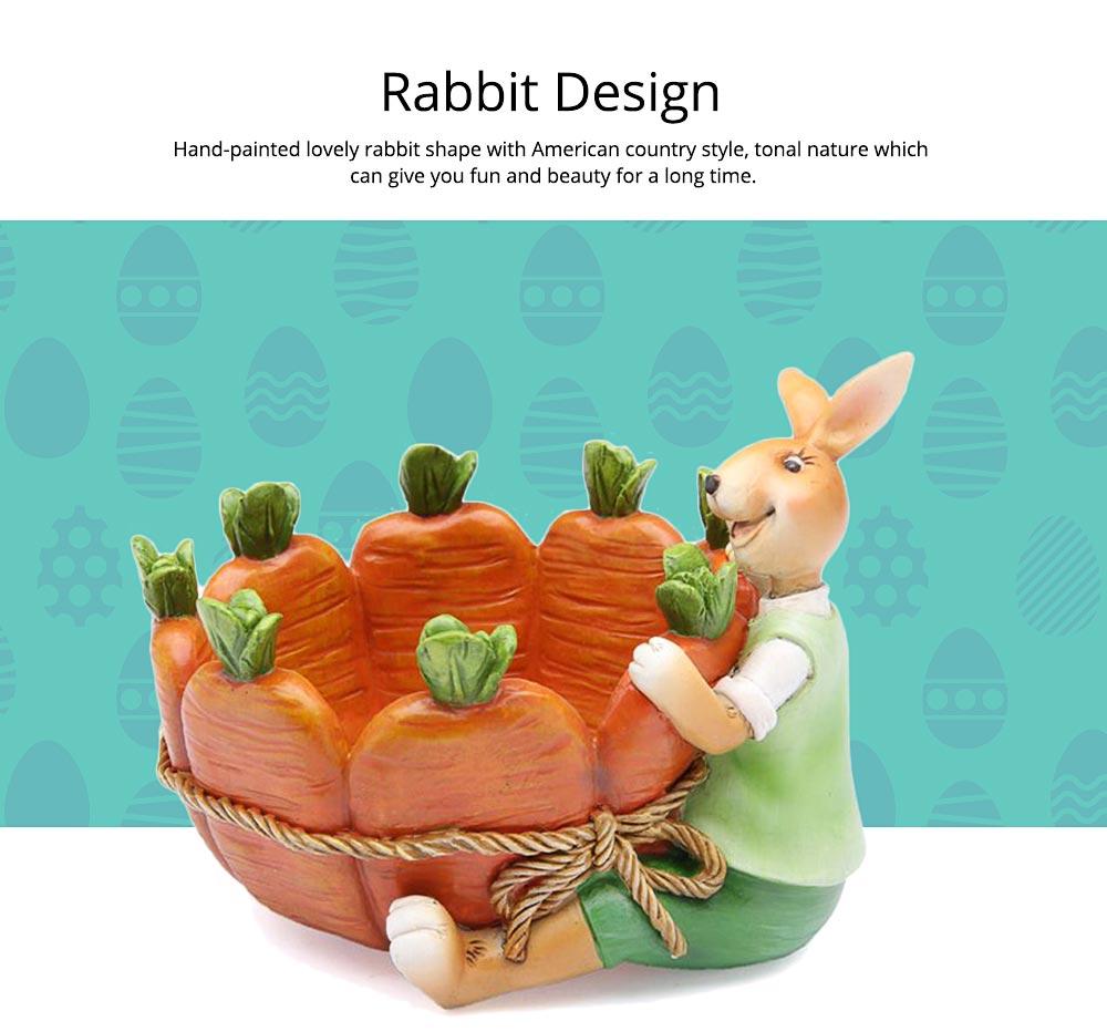 Succulent Flower pot, Lovely Cartoon Rabbit with Flower Pot Design for Birthday or Easter Present 4