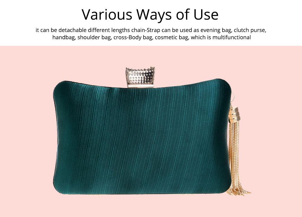 Imitation Silk Evening Bag, European and American Ladies Banquet Clutch, Ladies Dress Evening Handbag 7