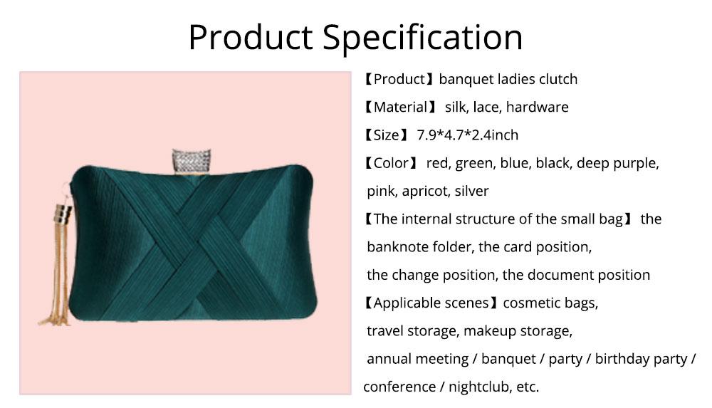 Imitation Silk Evening Bag, European and American Ladies Banquet Clutch, Ladies Dress Evening Handbag 9