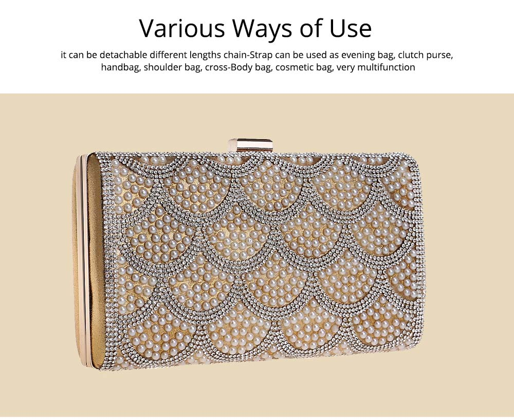 Flower Evening Bag, Ladies Fashion Banquet Handbag, High-quality Polyester Evening Clutch 12