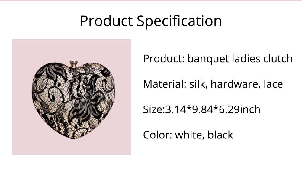Peach Heart-shaped Handbag, Fashion Banquet Ladies Clutch, Imitation Silk Purse 2019 9