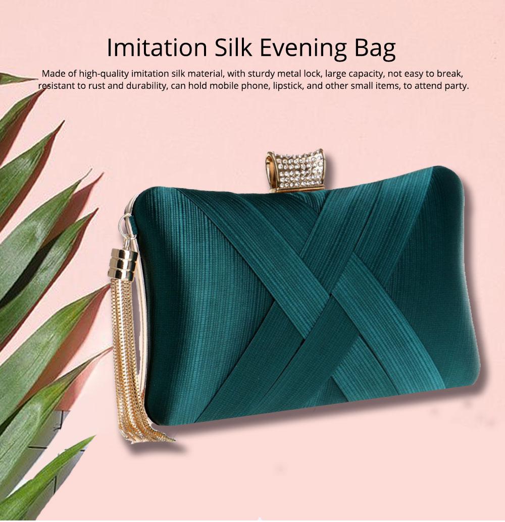 Imitation Silk Evening Bag, European and American Ladies Banquet Clutch, Ladies Dress Evening Handbag 0