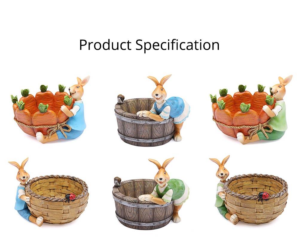 Succulent Flower pot, Lovely Cartoon Rabbit with Flower Pot Design for Birthday or Easter Present 9