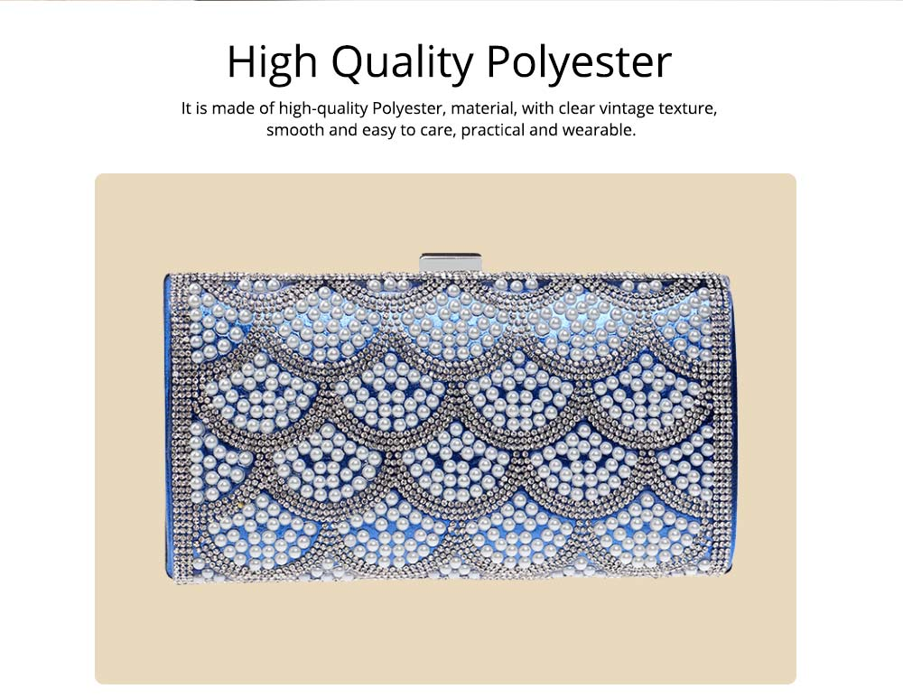 Flower Evening Bag, Ladies Fashion Banquet Handbag, High-quality Polyester Evening Clutch 7