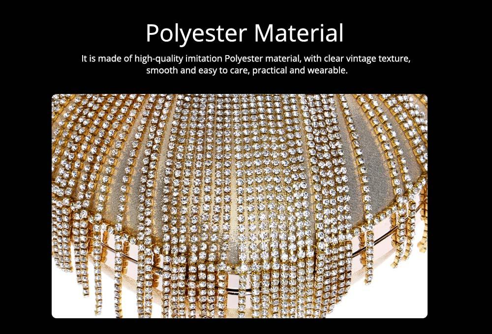 Tassel Evening Bag, Luxury Female Clutch, Mini Heart-shaped Polyester Dress Clutch 2019 8