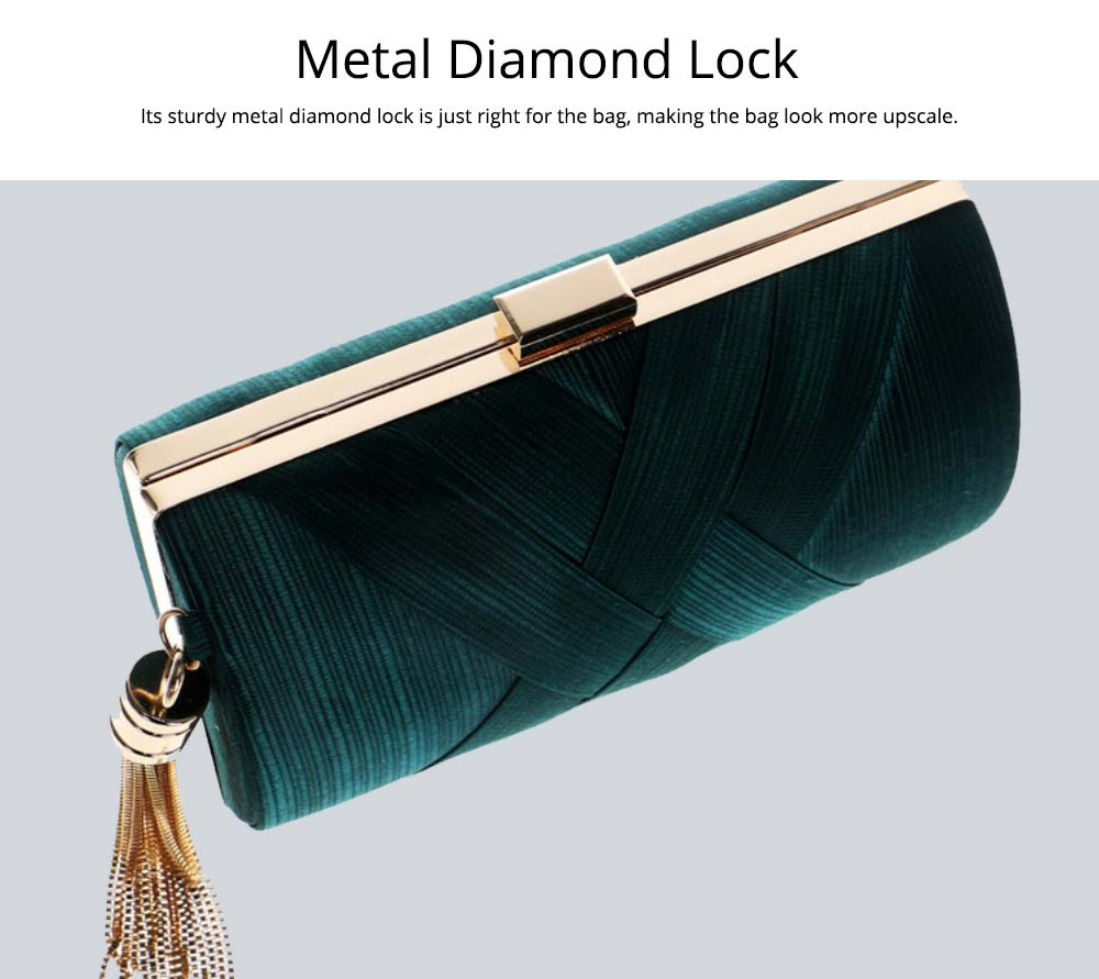 Fringe Party Bag, Female European and American Silk Party Evening Bag, Luxurious Imitation Silk Dress Clutch 11