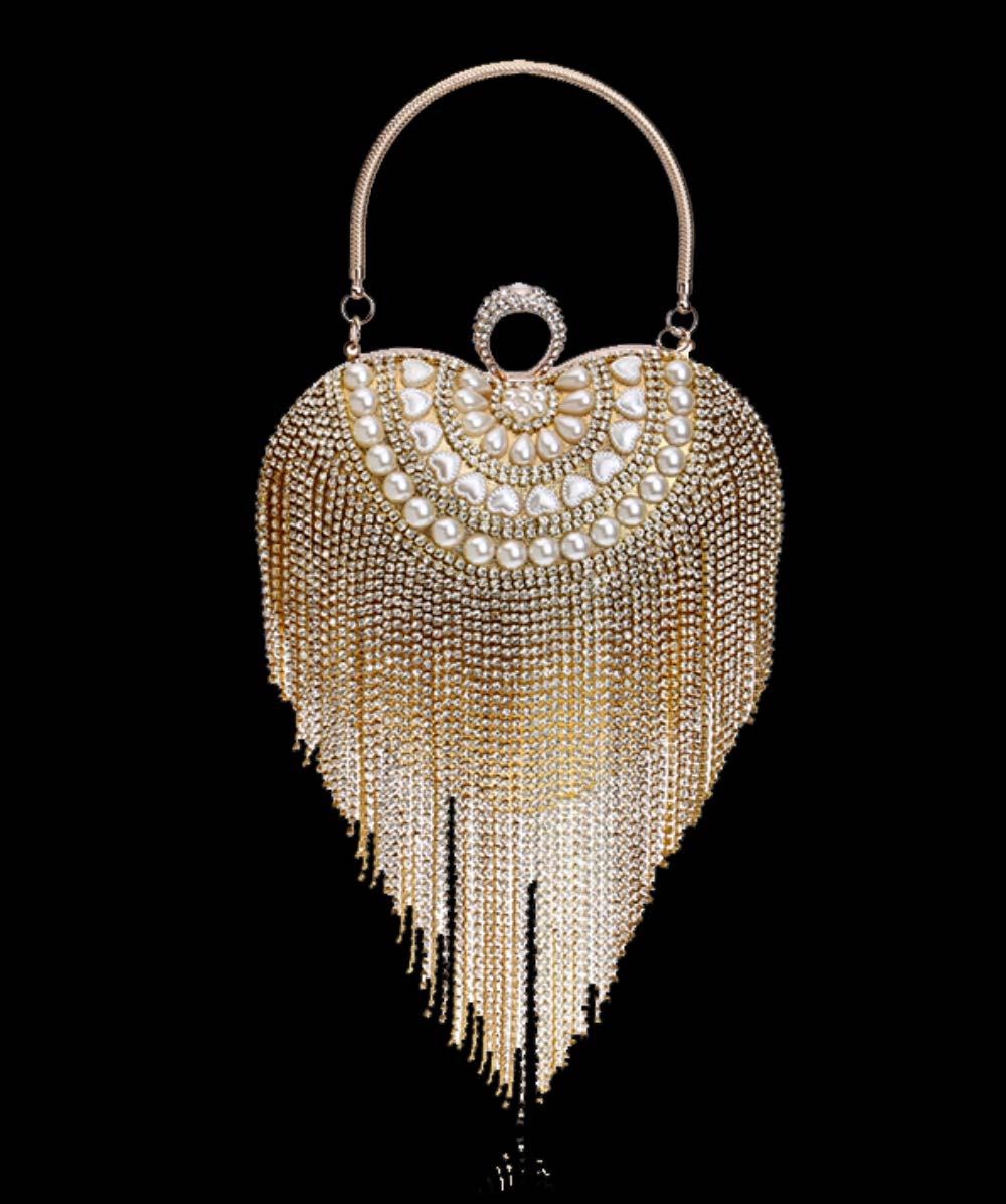 Tassel Evening Bag, Luxury Female Clutch, Mini Heart-shaped Polyester Dress Clutch 2019 14