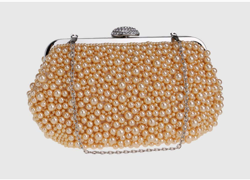 Pearl Dinner Bag, Ladies Luxury Party Bag, High-quality Polyester Evening Party Banquet Bag 7