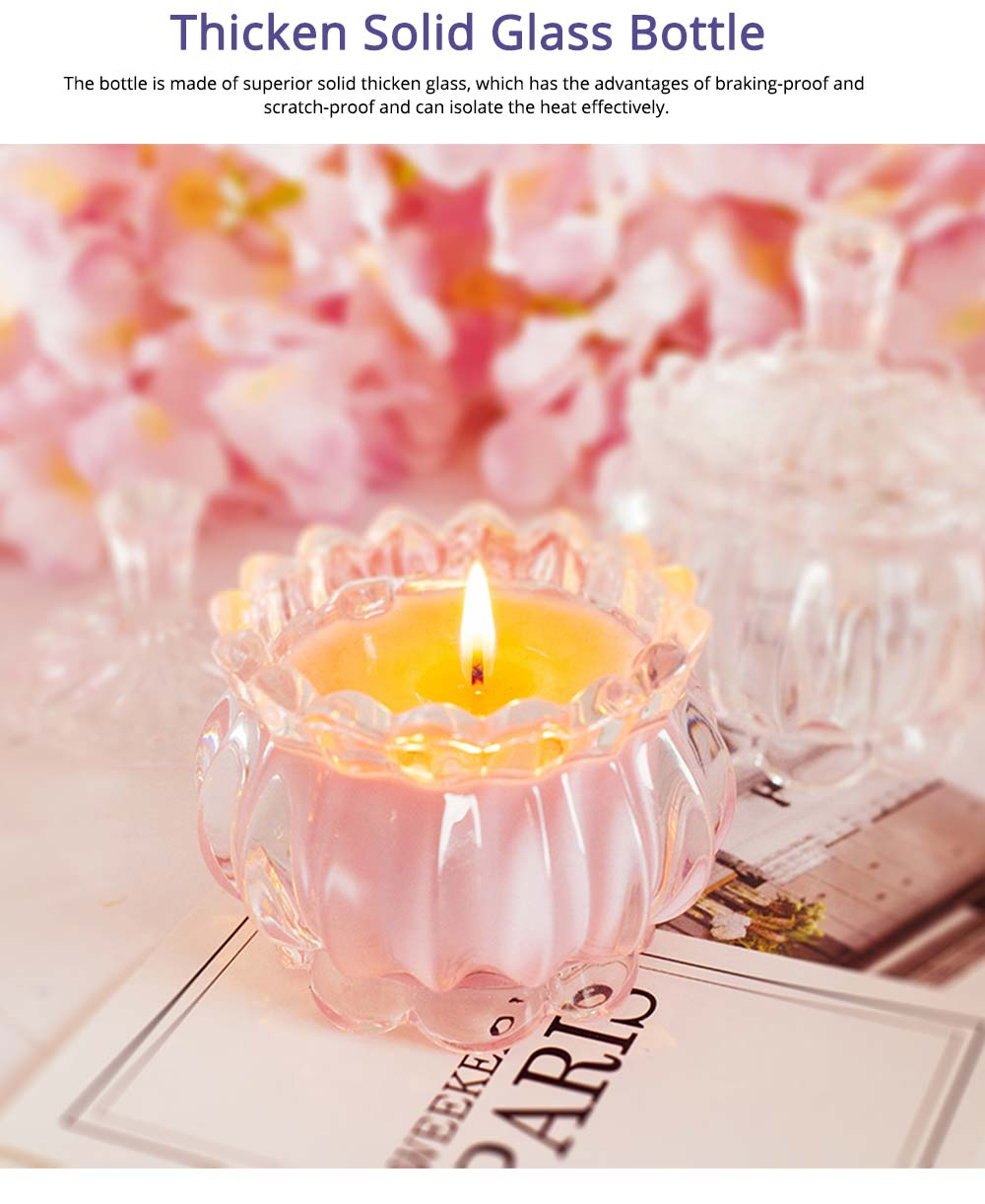 Atmosphere Scented Candle with Thickened Glass, Safety Soy Wax Vegetable Essential Oil Scented Candle, Wedding Birthday Present 5