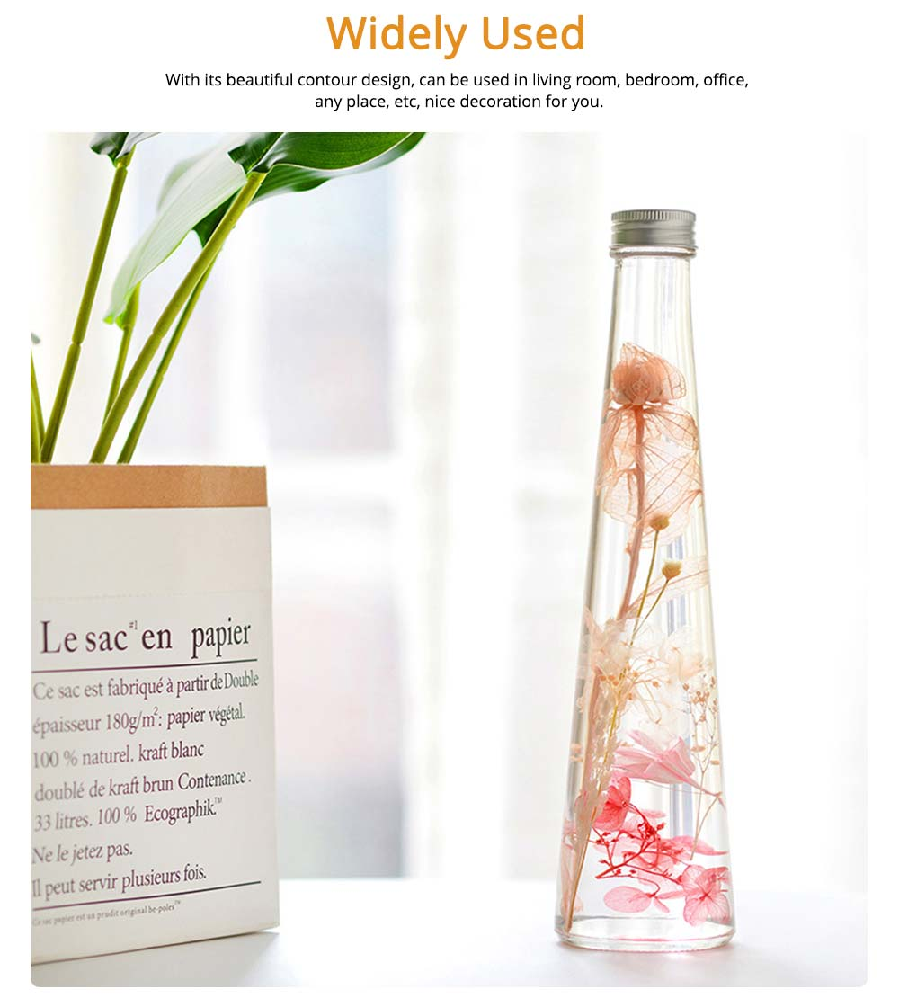 Preserved Flower Floating Herbarium Glass Bottle Decoration for Gift 4