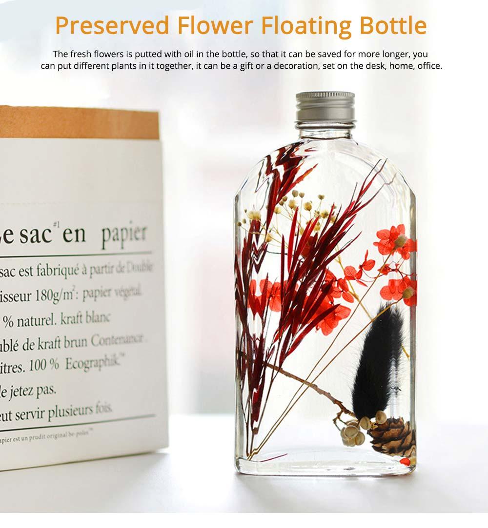 Preserved Flower Floating Herbarium Glass Bottle Decoration for Gift 0