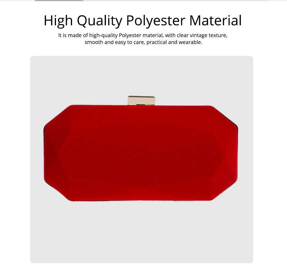 Explosive Velvet Noodle Dinner Bag, Ladies High-end Banquet Bag, Polyester Evening Clutch Bag 1