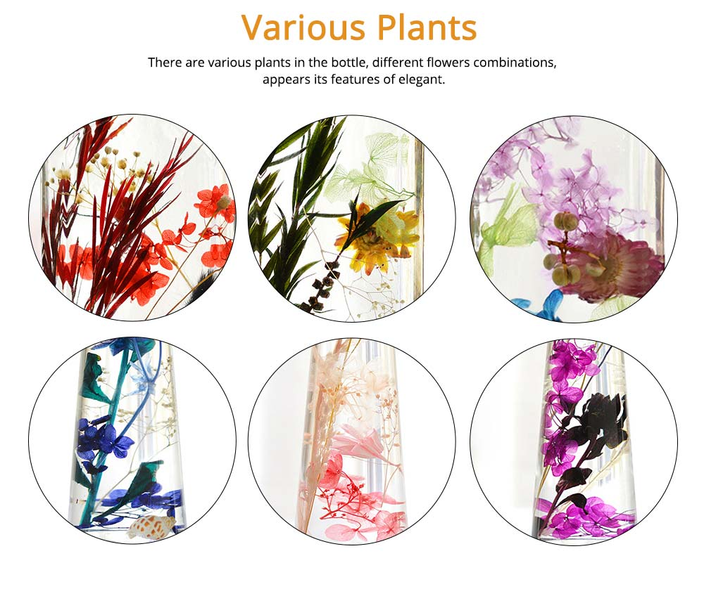 Preserved Flower Floating Herbarium Glass Bottle Decoration for Gift 3