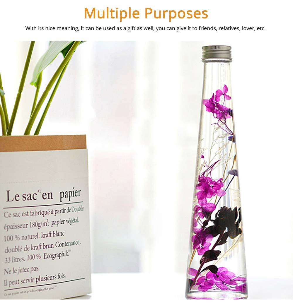 Preserved Flower Floating Herbarium Glass Bottle Decoration for Gift 5