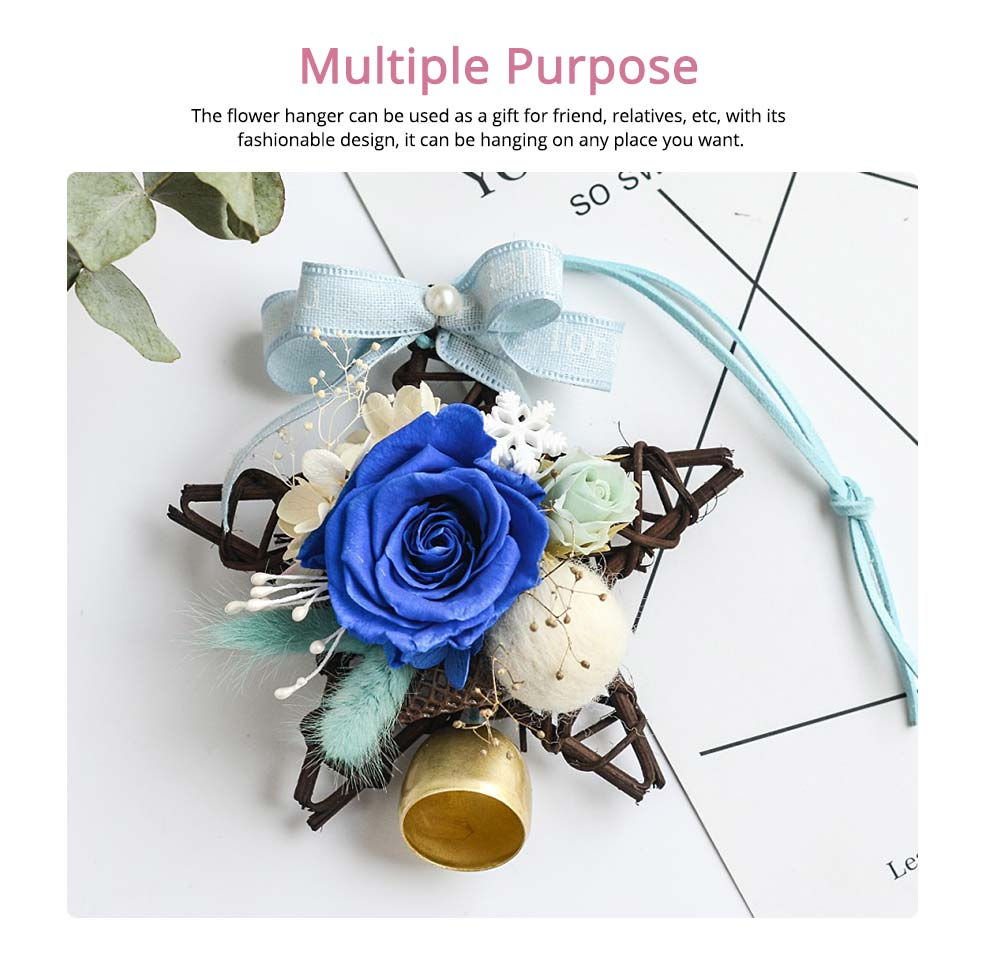 Preserved Flower Immortalized Real Rose Car Hanger Decoration 3