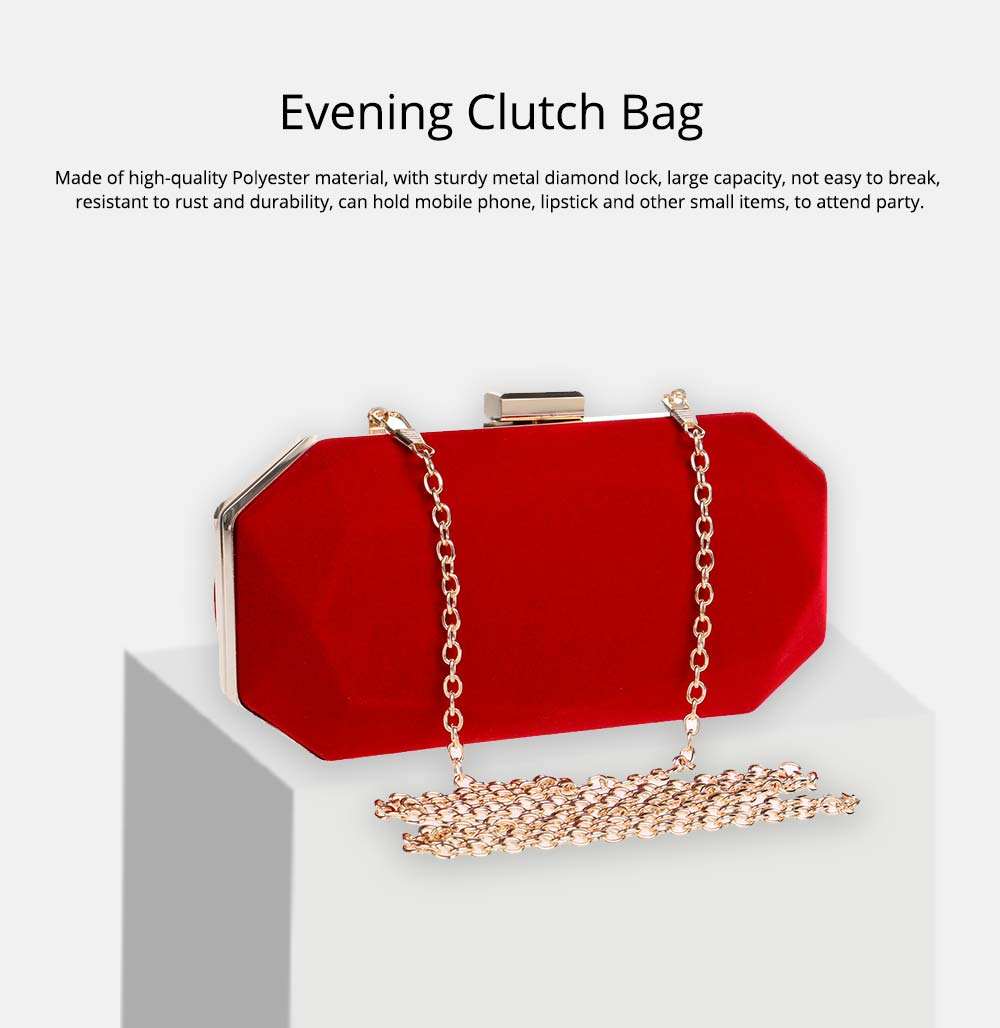 Explosive Velvet Noodle Dinner Bag, Ladies High-end Banquet Bag, Polyester Evening Clutch Bag 0