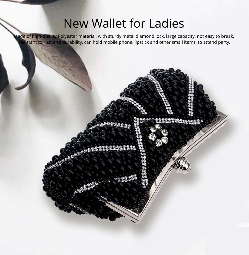 Luxurious Pearl Evening Clutch Bags, Women's Handmade Full Pearl Bridal Evening Clutch Bag 0