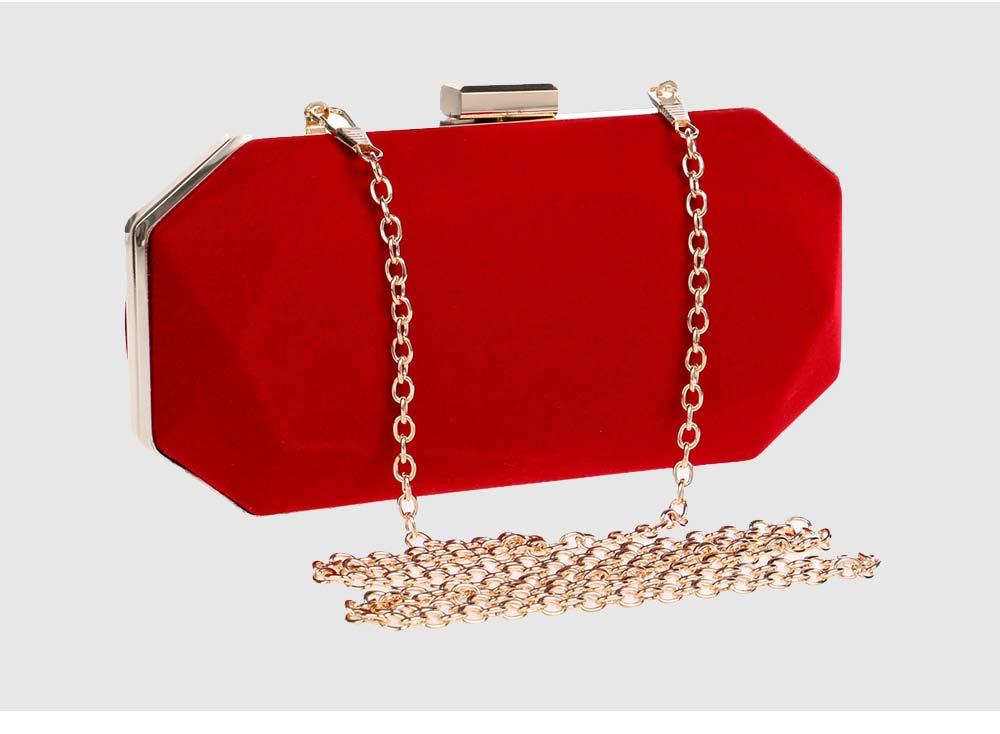 Explosive Velvet Noodle Dinner Bag, Ladies High-end Banquet Bag, Polyester Evening Clutch Bag 6