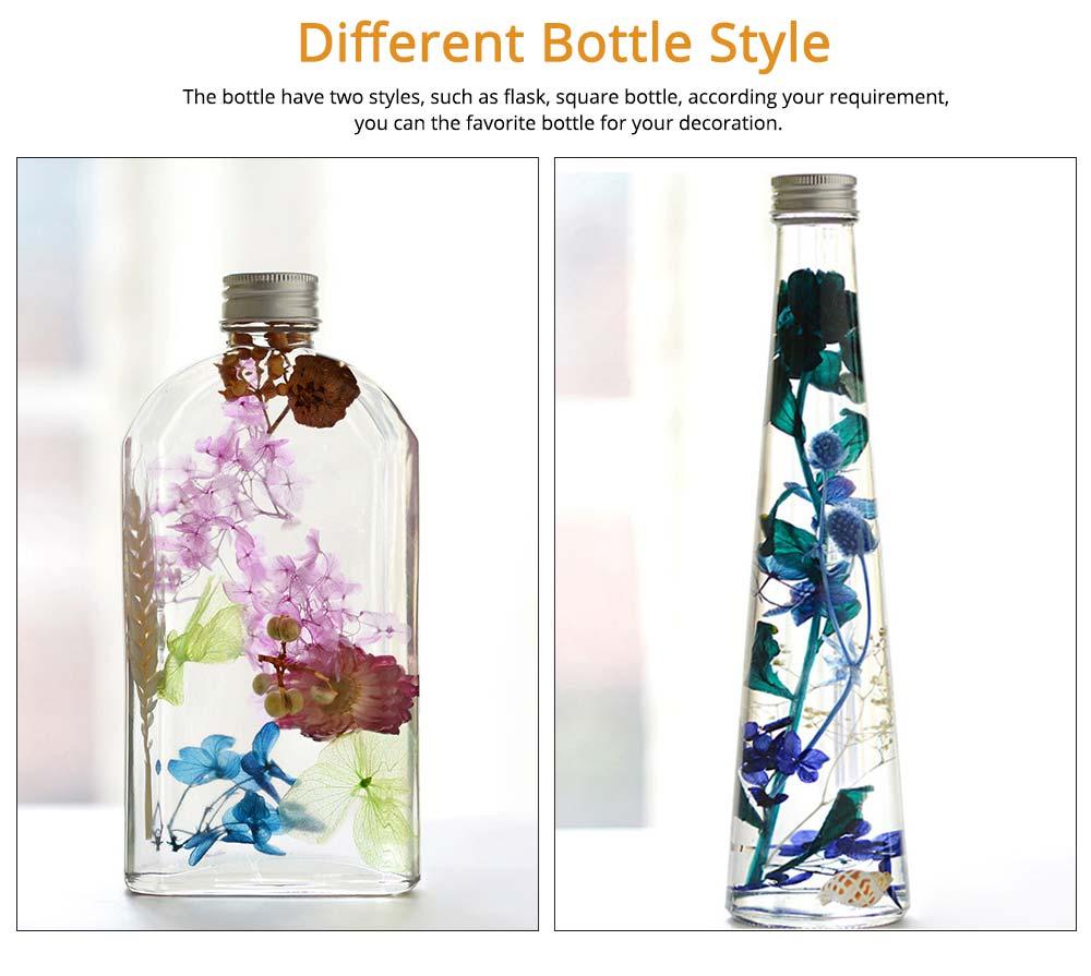 Preserved Flower Floating Herbarium Glass Bottle Decoration for Gift 2