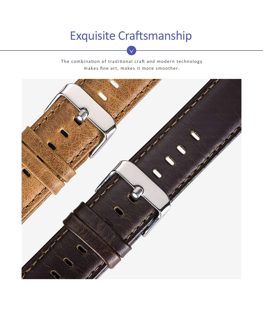 New Watchband Cowhide Leather Casual Belt for Apple Four Generation Watch Classical Strap 1