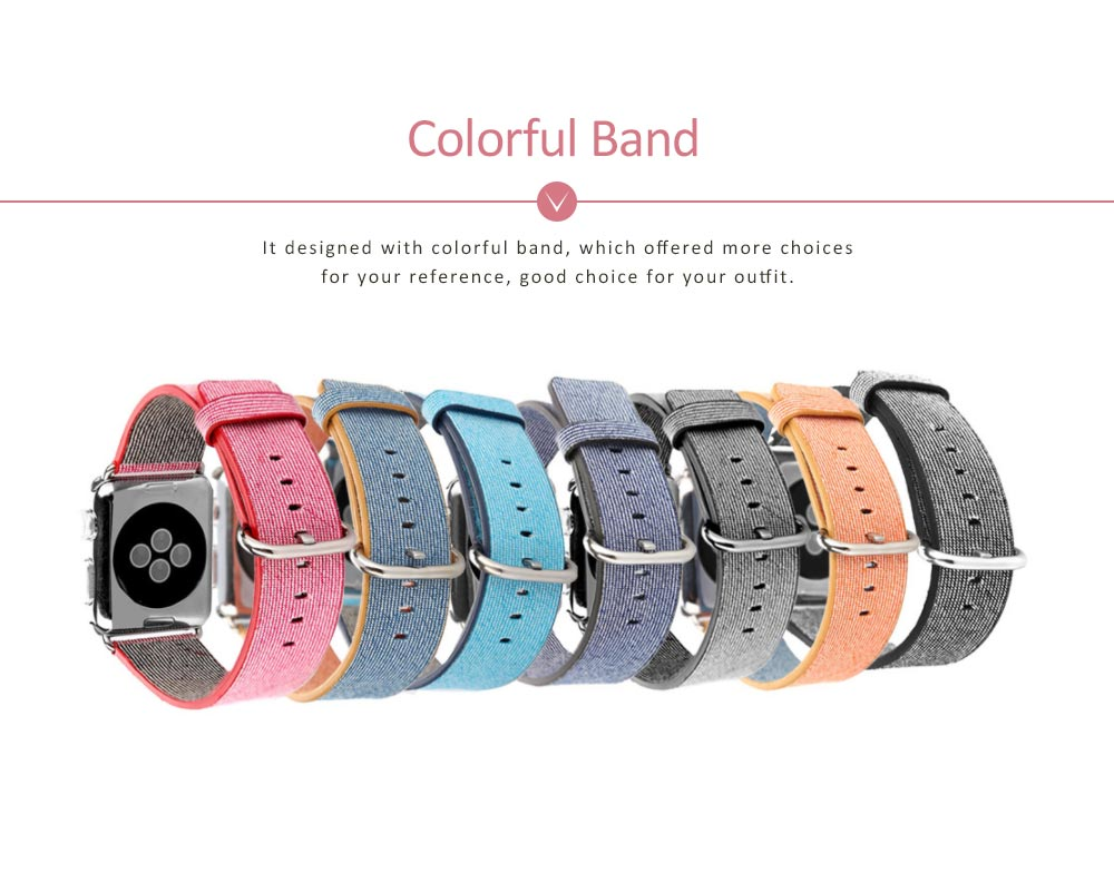 New Nylon Watchband for Apple Watch, Colorful Watch Strap, 38 & 42mm 3