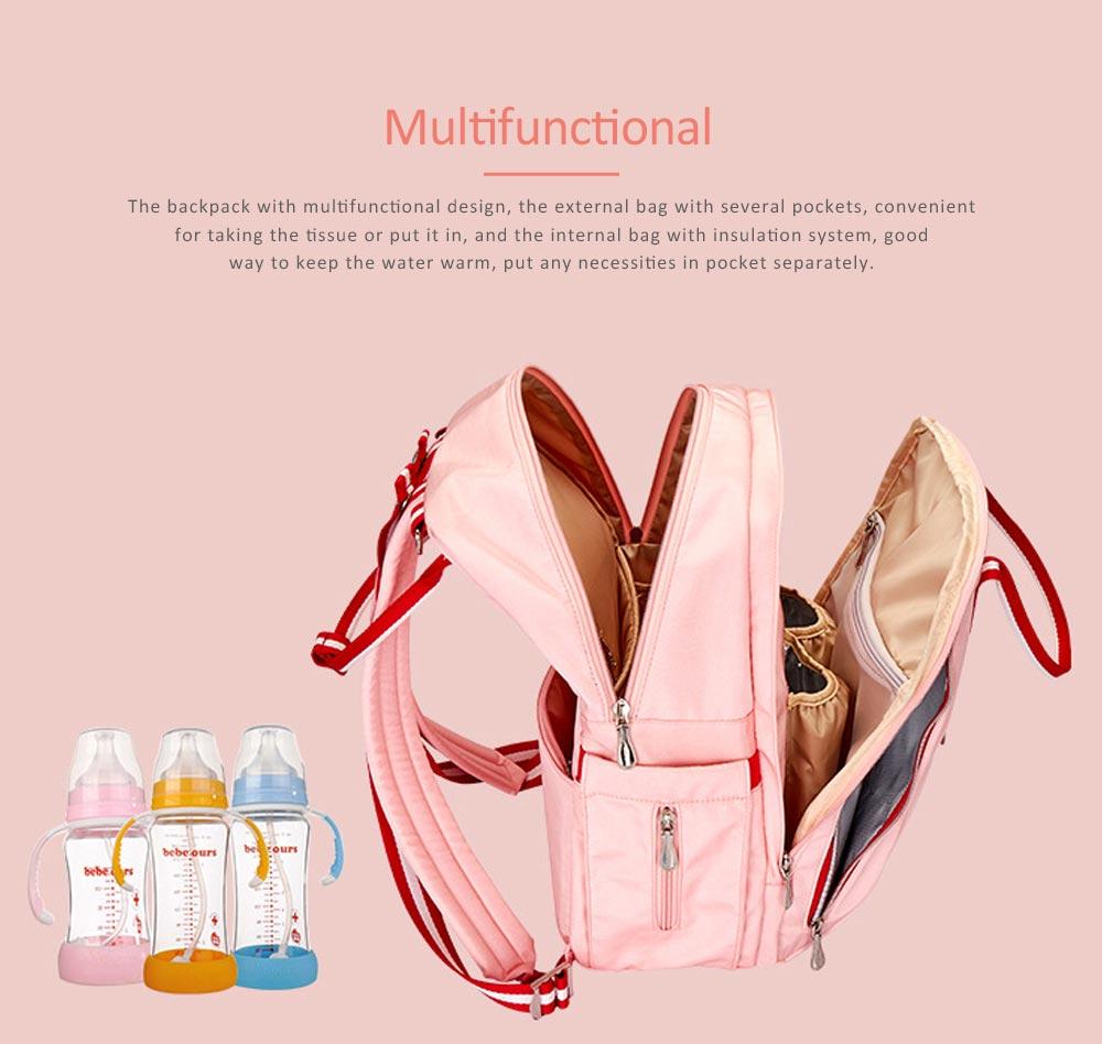 Stylish Mom Backpack, Backpack Diaper Bag for Mummy, Multipurpose New Women Shoulder Bag 6