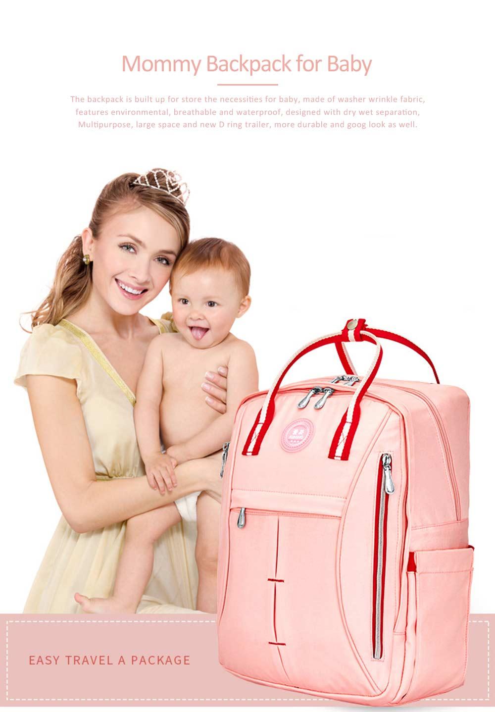 Stylish Mom Backpack, Backpack Diaper Bag for Mummy, Multipurpose New Women Shoulder Bag 0