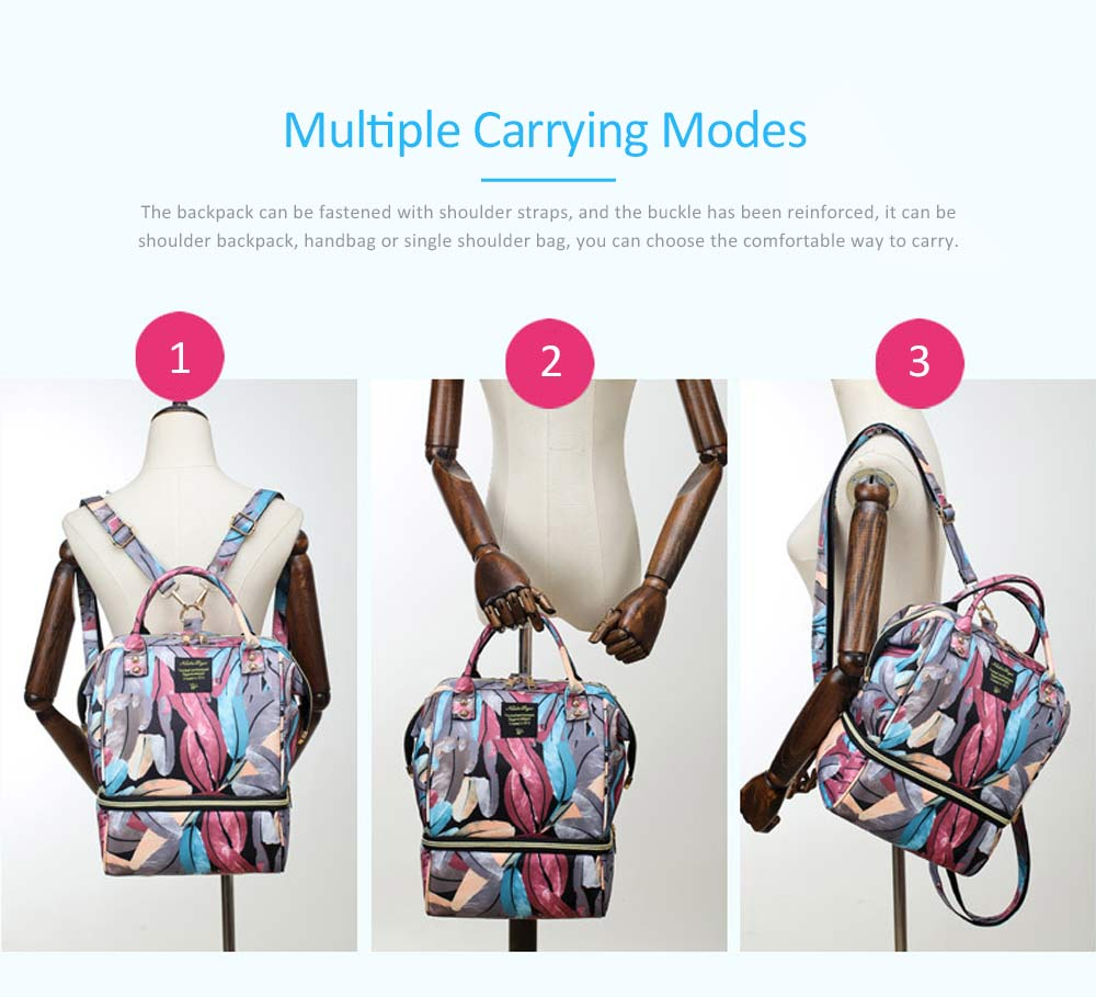 New Women Backpack Oxford Multifunctional Bag for Carrying Baby's Brings Diaper Warm-box Mummy Pack 3