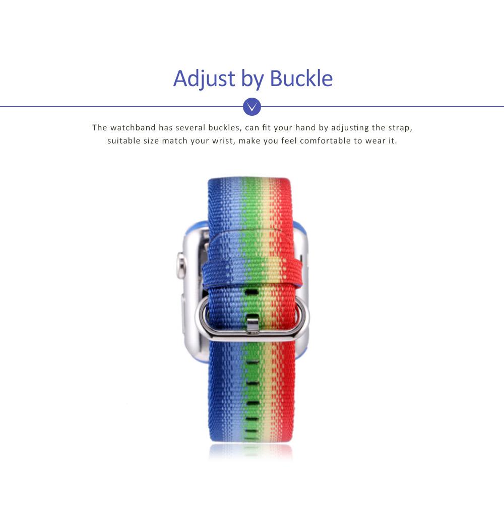 Rainbow Watch Band Nylon Band, Fashionable Watch-belt New Strap, Matching Apple Watch 38/42mm 3
