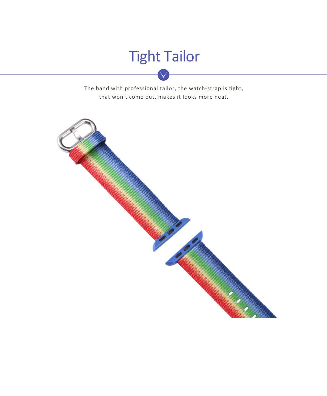 Rainbow Watch Band Nylon Band, Fashionable Watch-belt New Strap, Matching Apple Watch 38/42mm 5