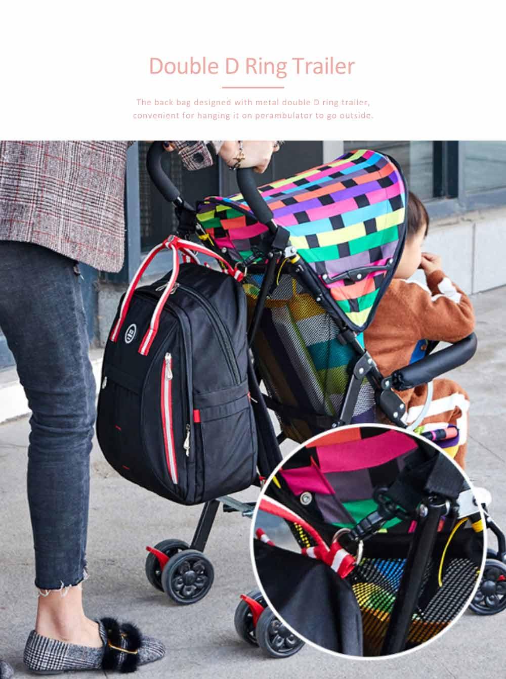 Stylish Mom Backpack, Backpack Diaper Bag for Mummy, Multipurpose New Women Shoulder Bag 3