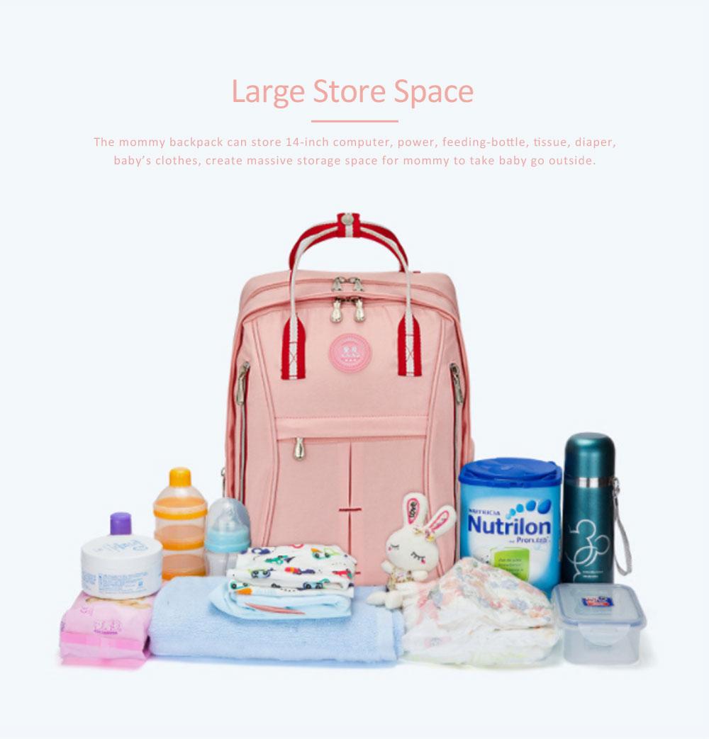 Stylish Mom Backpack, Backpack Diaper Bag for Mummy, Multipurpose New Women Shoulder Bag 5