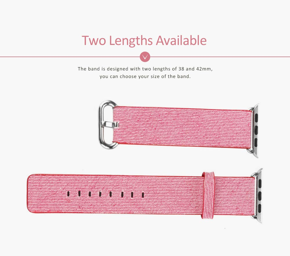 New Nylon Watchband for Apple Watch, Colorful Watch Strap, 38 & 42mm 4