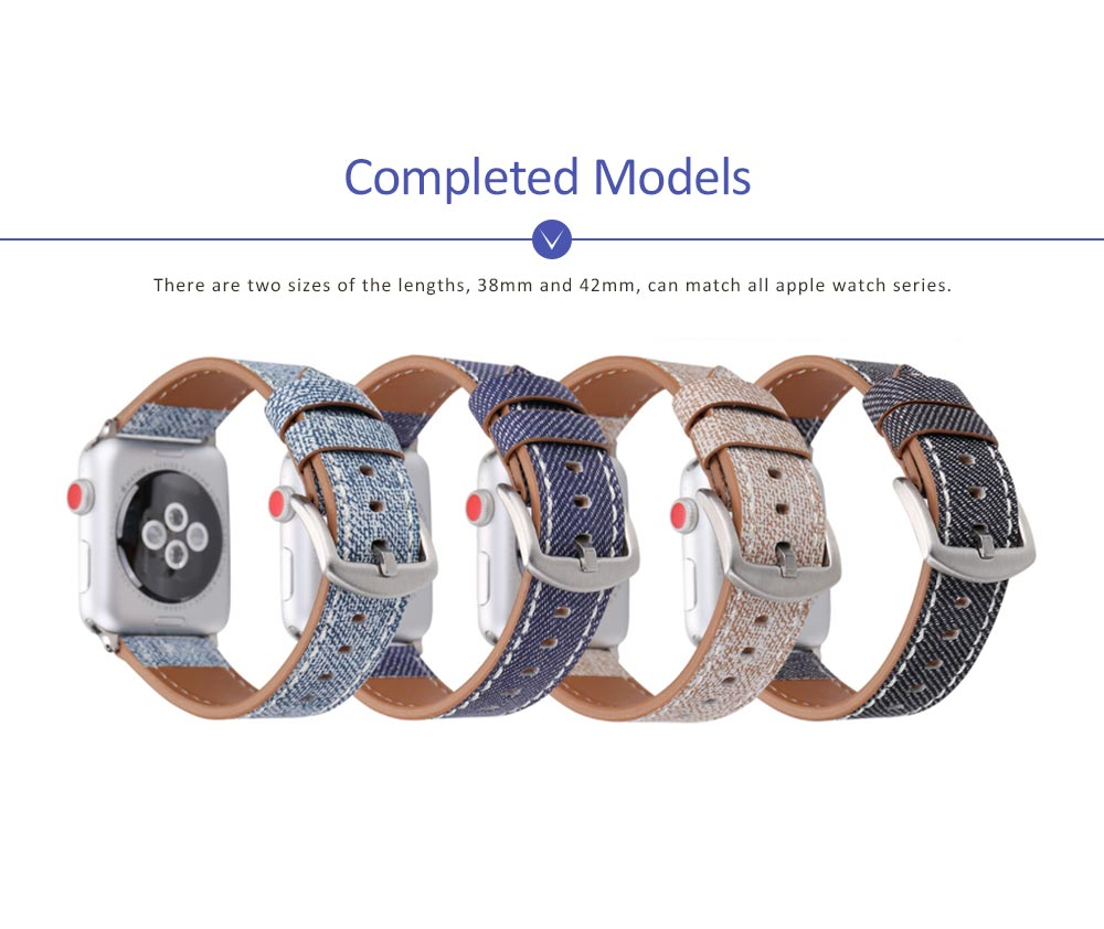 New Watch Band Genuine Leather Strap Cowboy Grain Belt for Apple Watch, 38mm and 42mm 3