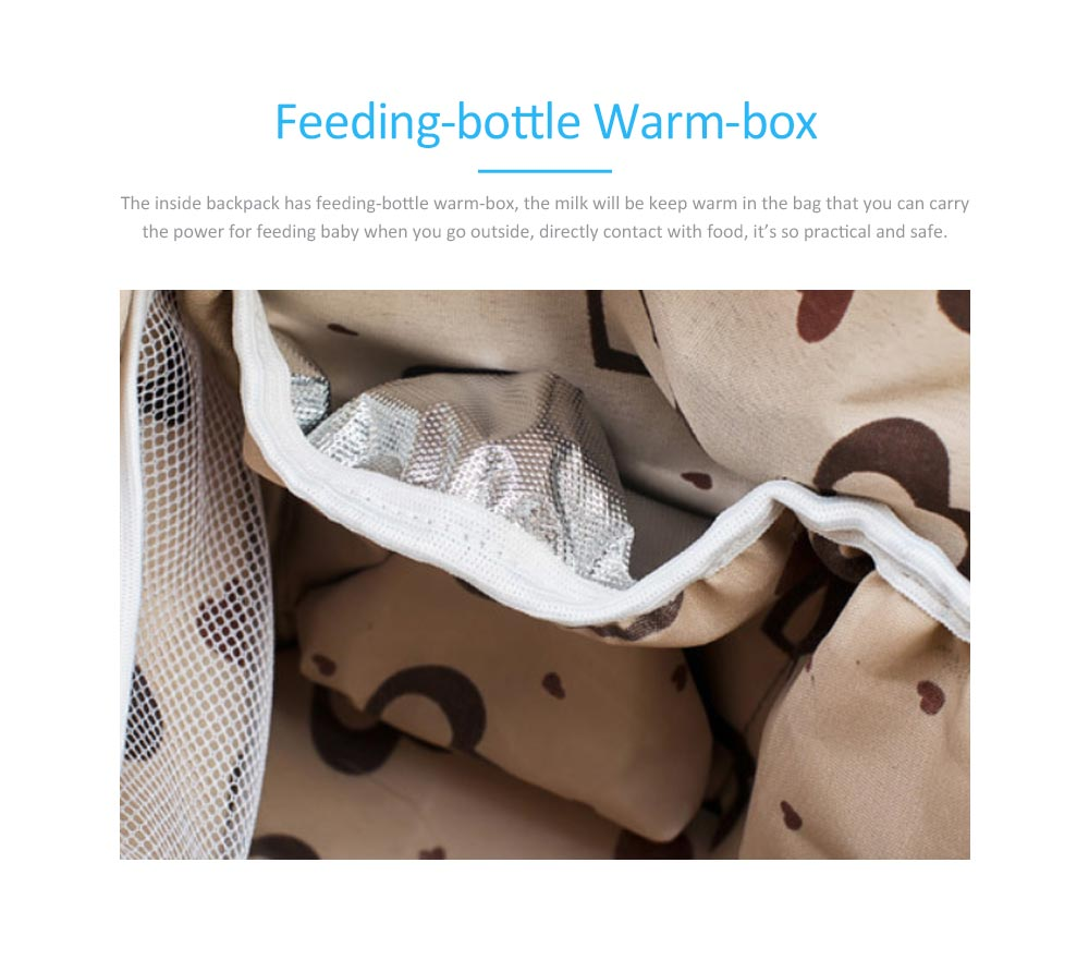 New Women Backpack Oxford Multifunctional Bag for Carrying Baby's Brings Diaper Warm-box Mummy Pack 4