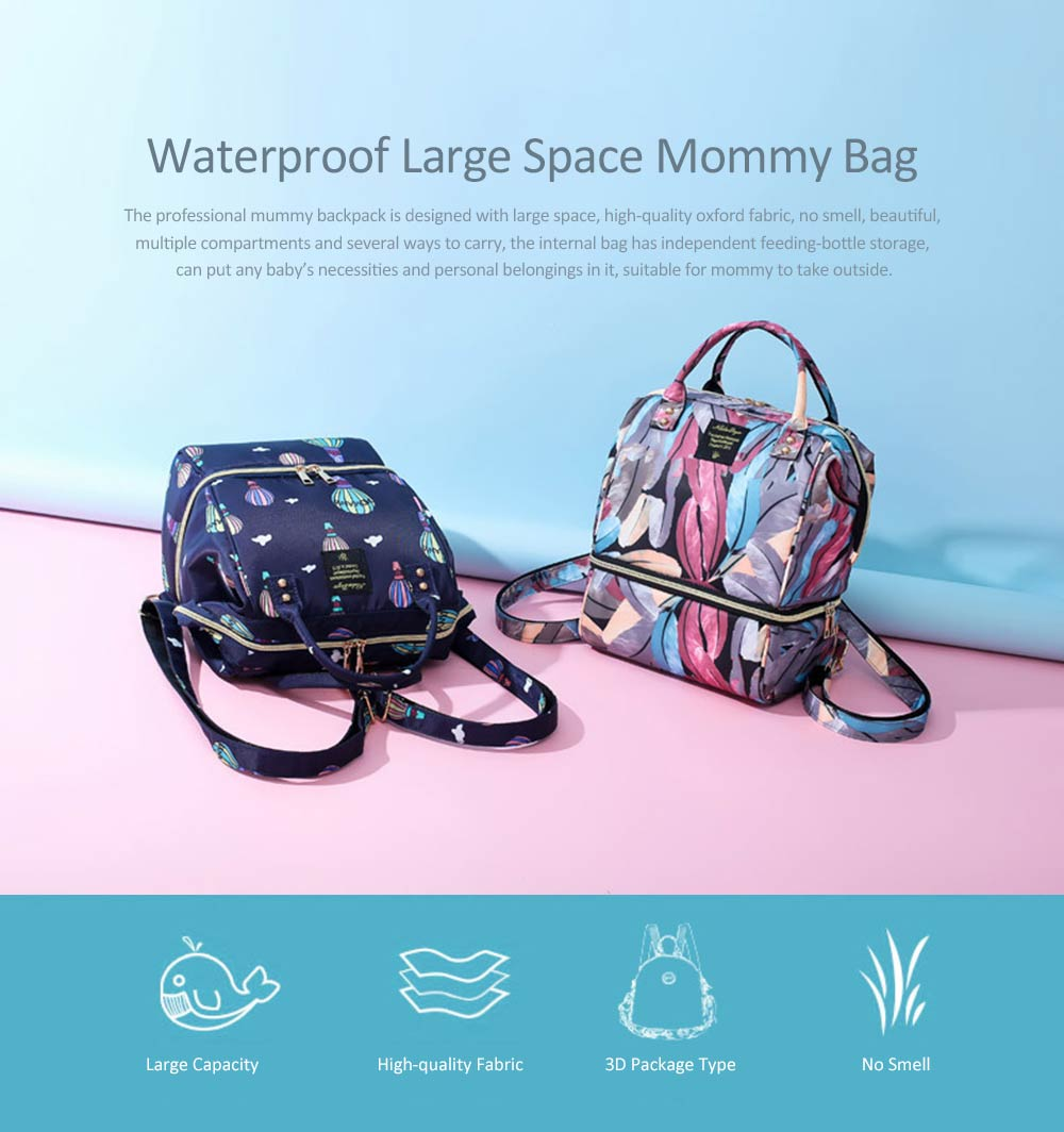New Women Backpack Oxford Multifunctional Bag for Carrying Baby's Brings Diaper Warm-box Mummy Pack 0