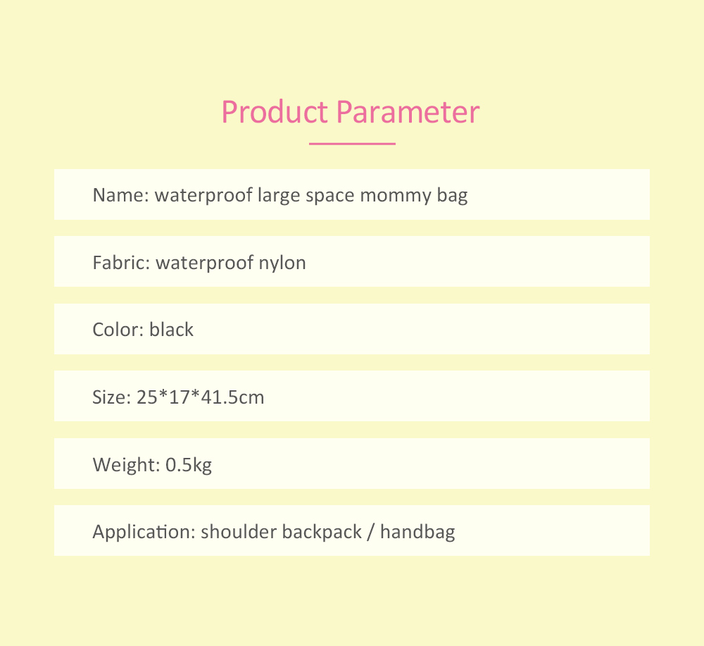 Stylish Diaper Bags, Nylon Waterproof Bag for Baby Diaper, Pregnant Practical Women Pack 6