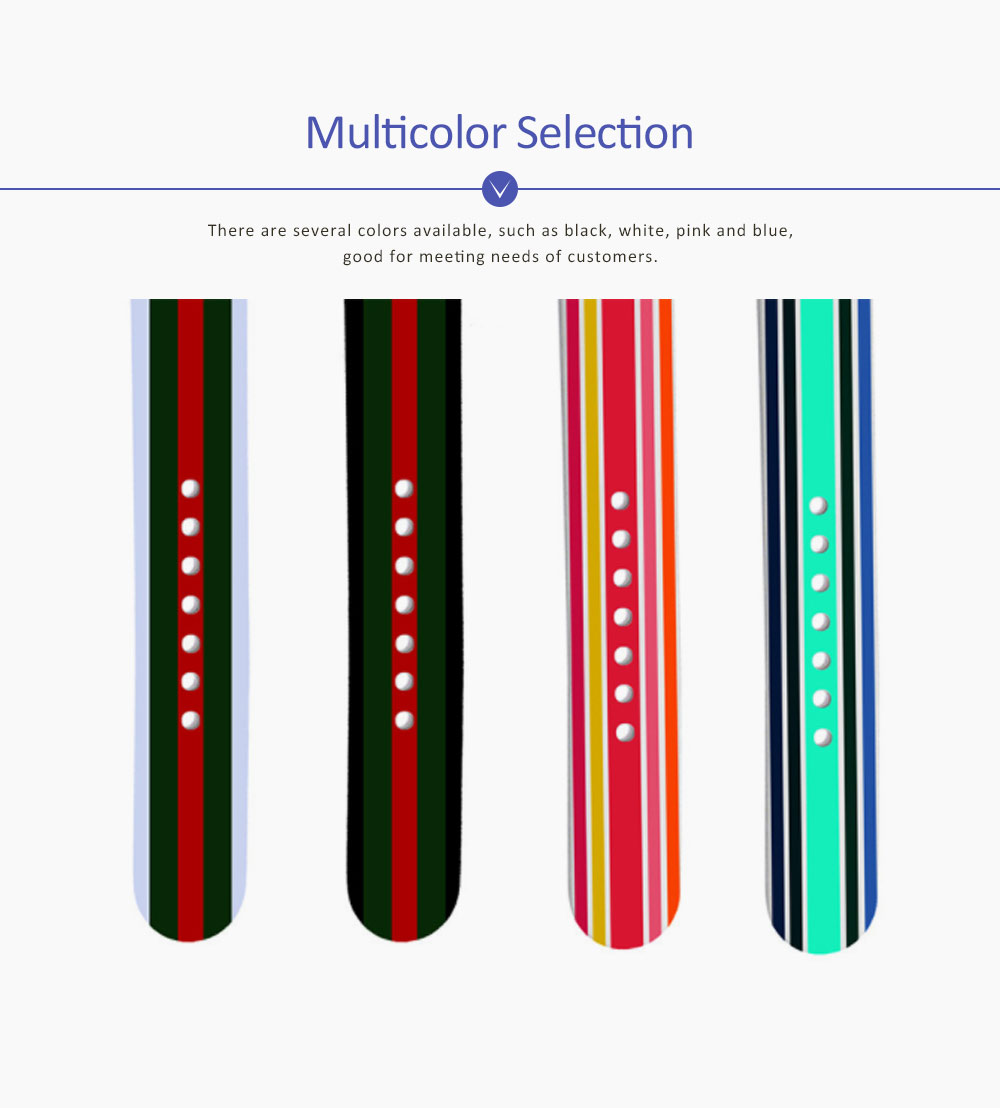 Silicone Watch Band Sport Band for Apple Watch Multiple Model Striped Watch-strap, 38-42mm 3