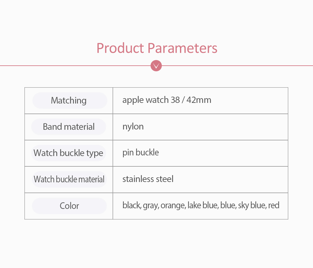 New Nylon Watchband for Apple Watch, Colorful Watch Strap, 38 & 42mm 6