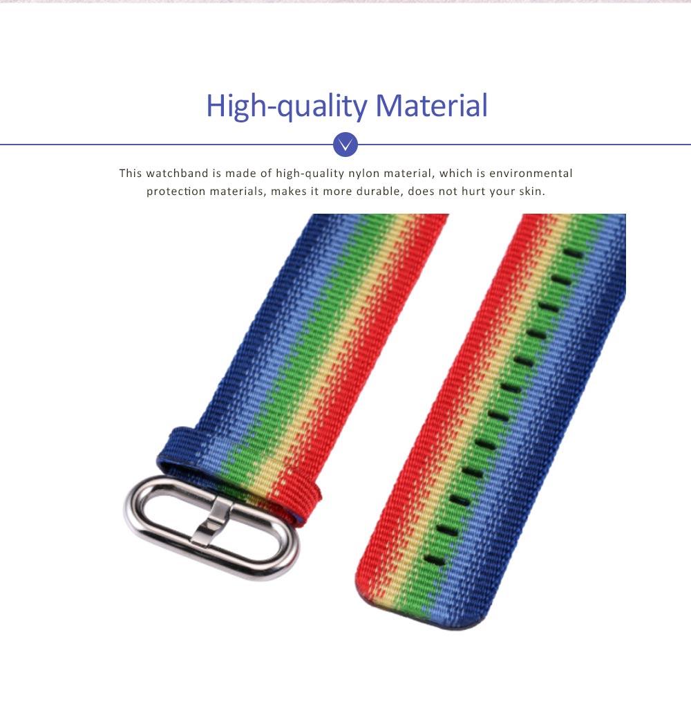 Rainbow Watch Band Nylon Band, Fashionable Watch-belt New Strap, Matching Apple Watch 38/42mm 1