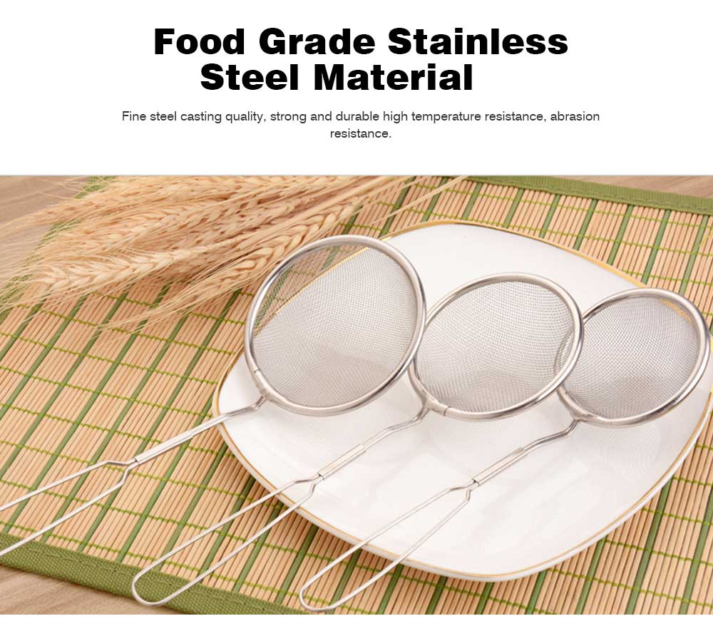 High Quality Mesh Stainless Steel Strainers, All Purpose Food Strainer and Colander Sieve for Superior Baking and Cooking Preparation, Set of 3 1
