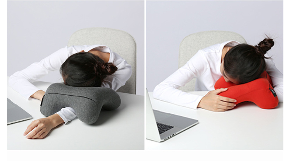 Office Nap Pillow with Humanized Design, Lightweight Nap Pillow for Office Classroom Traveling, Portable Nap Memory Pillow 3