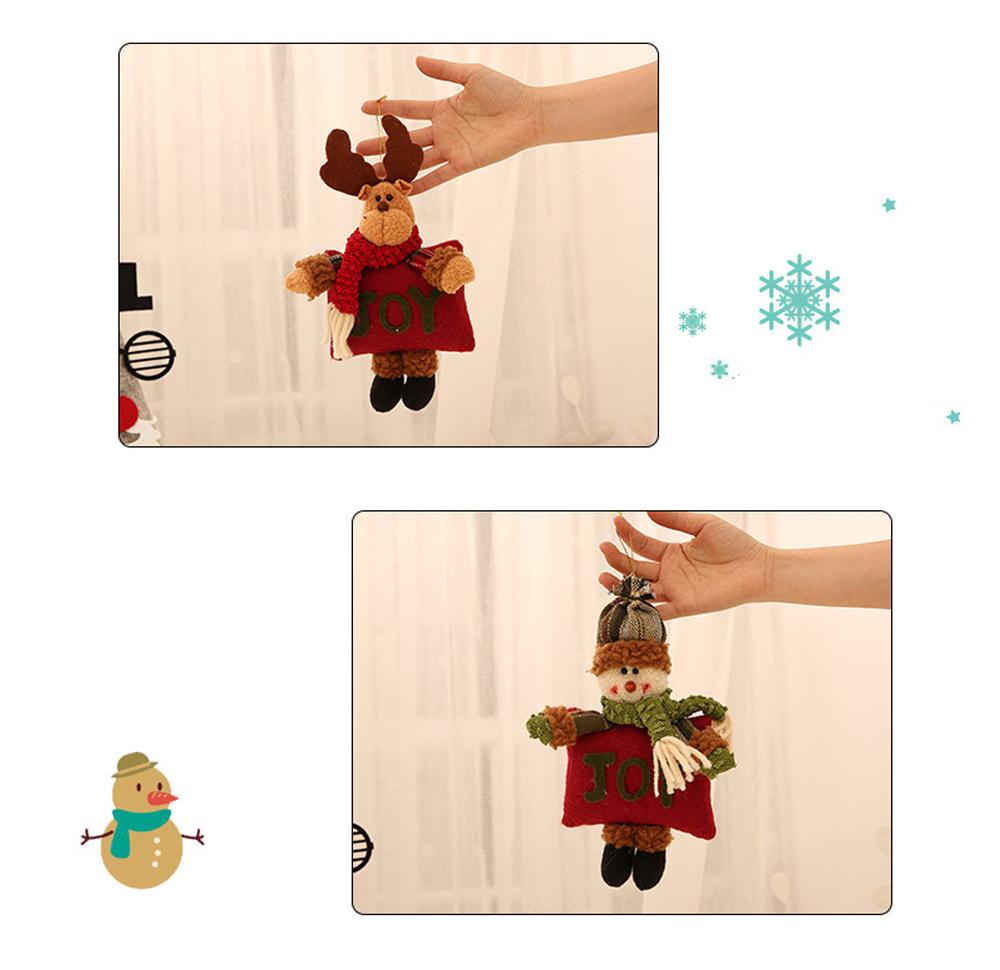 Christmas Decorations Small Dolls Ornaments, Three-dimensional Dolls Christmas Tree Pendants Cloth Pendant 5