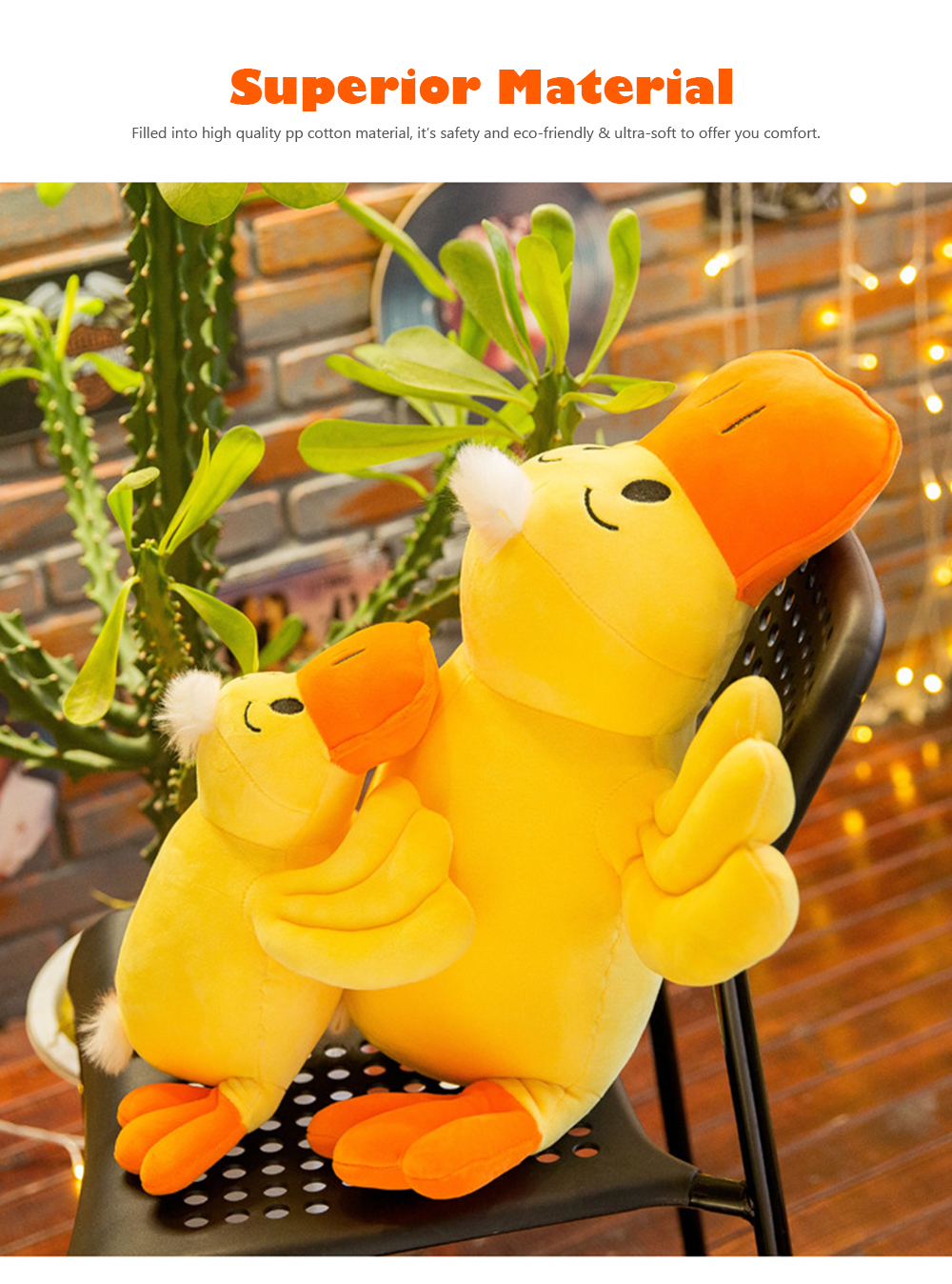 Yellow Duck Plush Toy, Grab Doll Claw Toy, Cute Duck Doll Festival Activities Gift 1