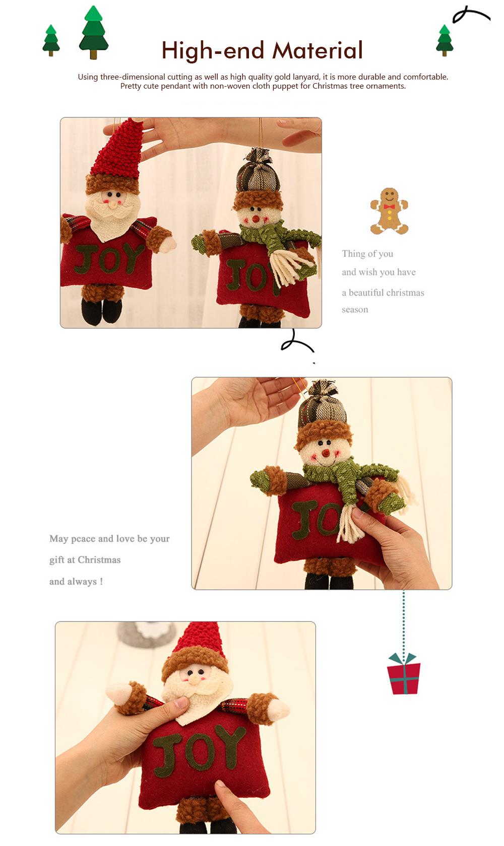 Christmas Decorations Small Dolls Ornaments, Three-dimensional Dolls Christmas Tree Pendants Cloth Pendant 3