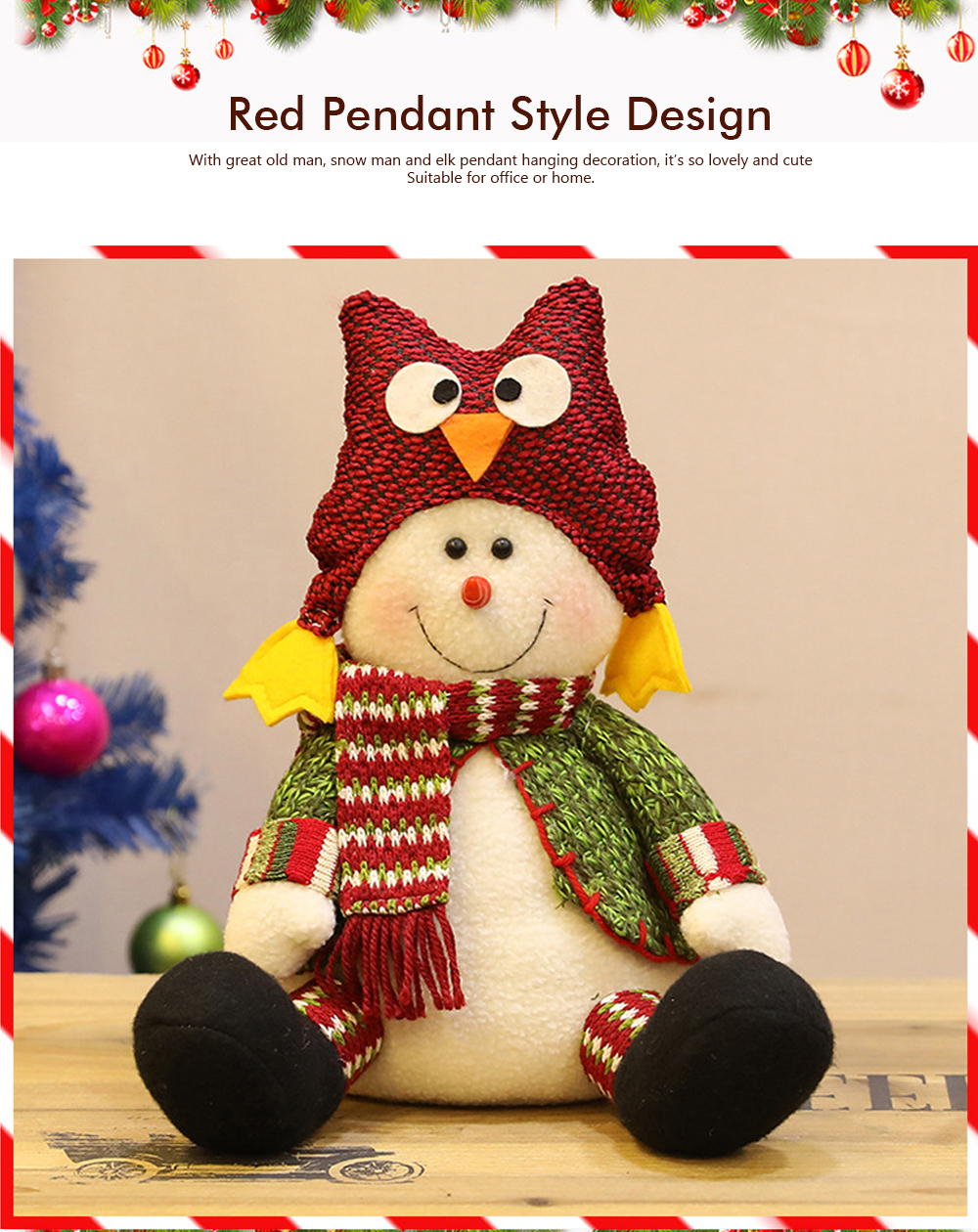 Christmas Decorations Plush Elk Sitting Posture Dolls for Children's Gifts and Mall Window Decoration Props 1