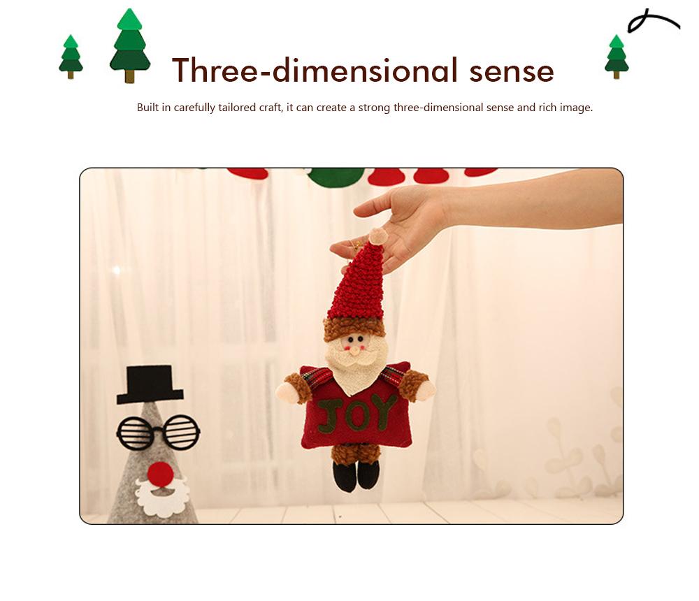 Christmas Decorations Small Dolls Ornaments, Three-dimensional Dolls Christmas Tree Pendants Cloth Pendant 4