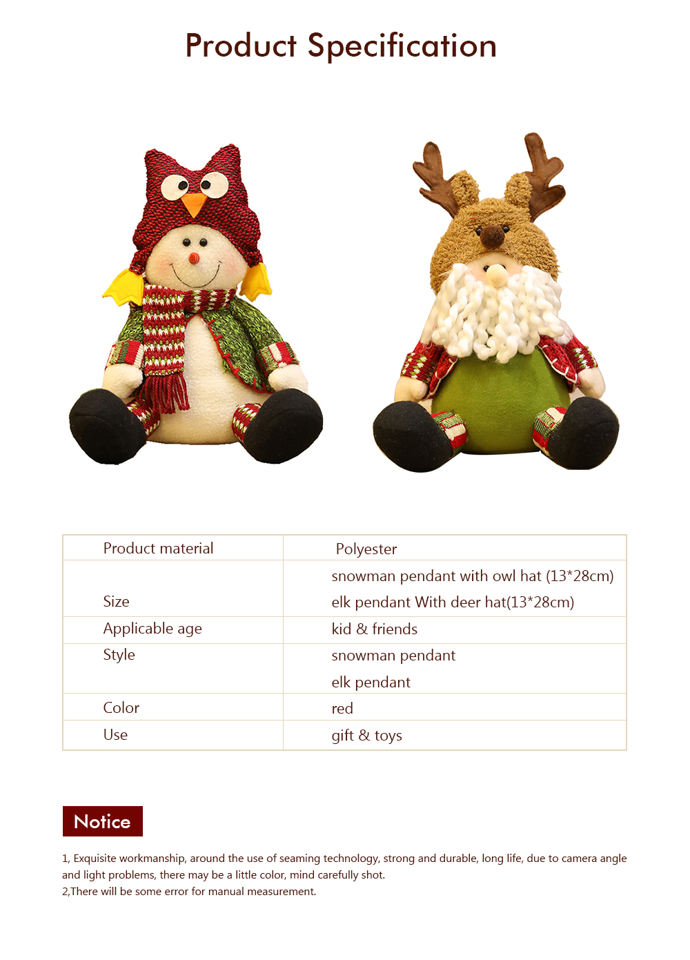 Christmas Decorations Plush Elk Sitting Posture Dolls for Children's Gifts and Mall Window Decoration Props 6